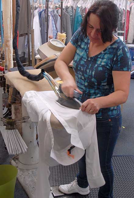 Blouse ironing