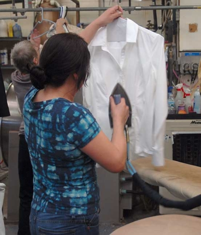 blouse steaming